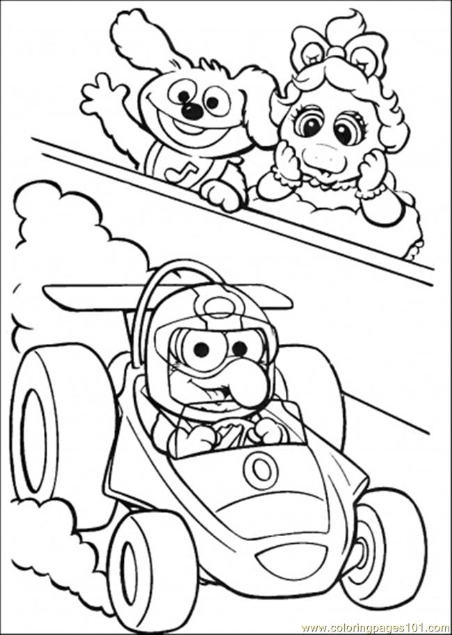 Coloring Pages Elmo Is Riding A Cart (Cartoons > Muppet Babies
