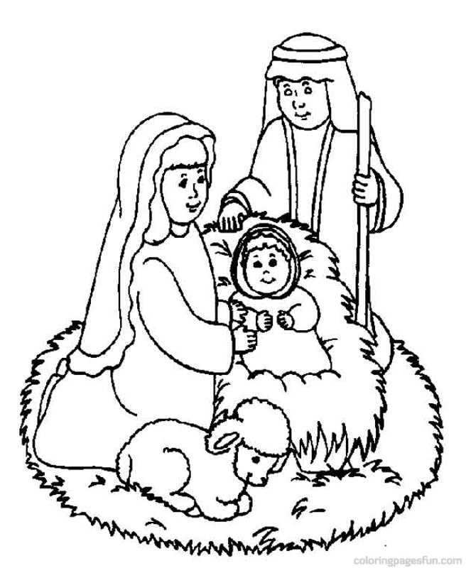 free christmas nativity coloring pages - photo#30