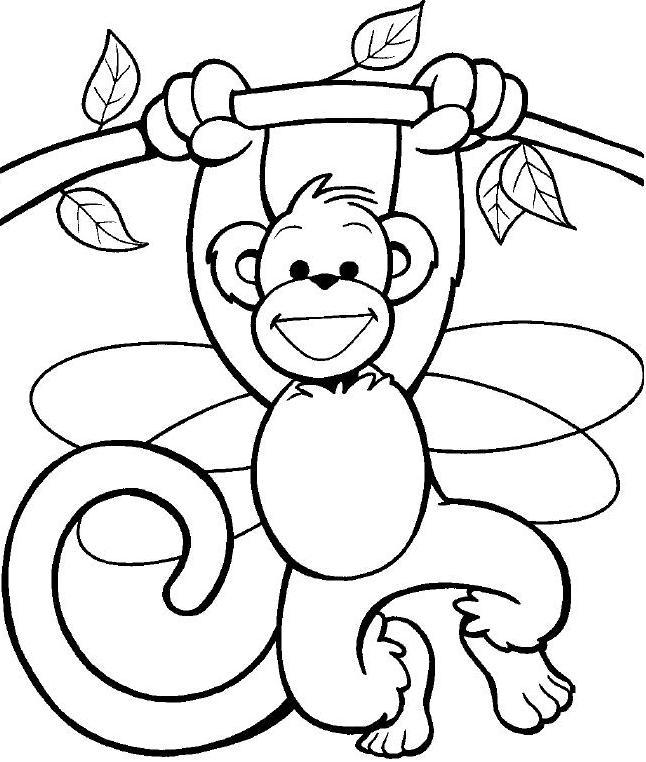 Macacos Colouring Pages