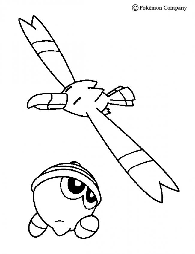 Pokemon Battles Coloring Pages Wingull And Seedot Az Dibujos Para Colorear