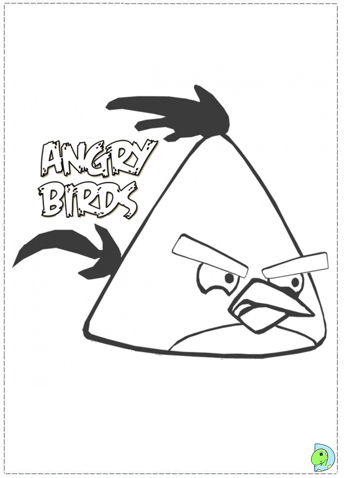 Angry Birds Coloring Page Yellow « Printable Coloring Pages