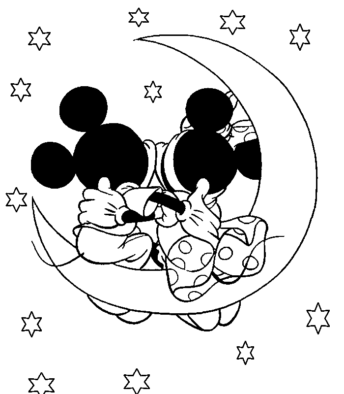 Mickey Mouse And Minnie Mouse Christmas Coloring Pages   Cartoon ...