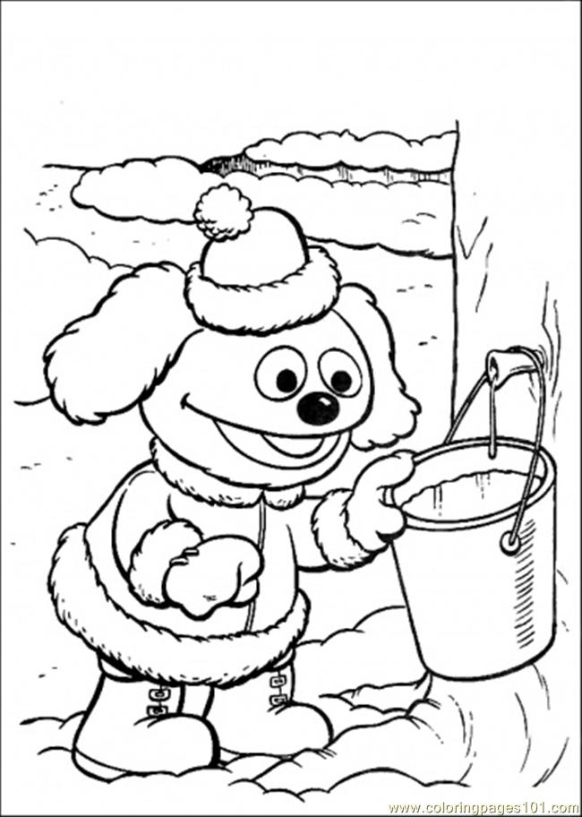 Coloring Pages The Baby Collects Some Water (Cartoons > Muppet
