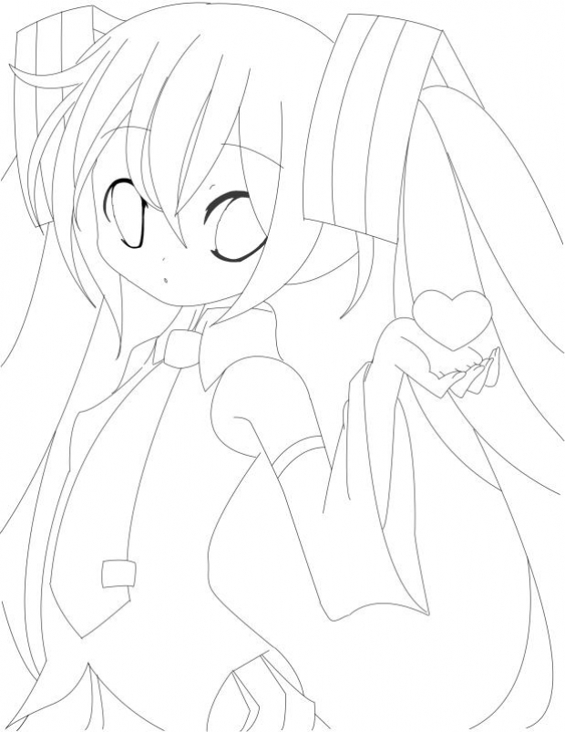hatsune miku chibi coloring pages - photo#5