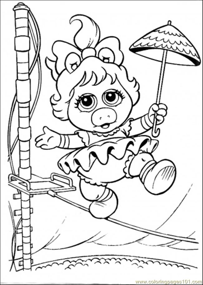 Coloring Pages Piggy Babies (Cartoons > Muppet Babies) - free
