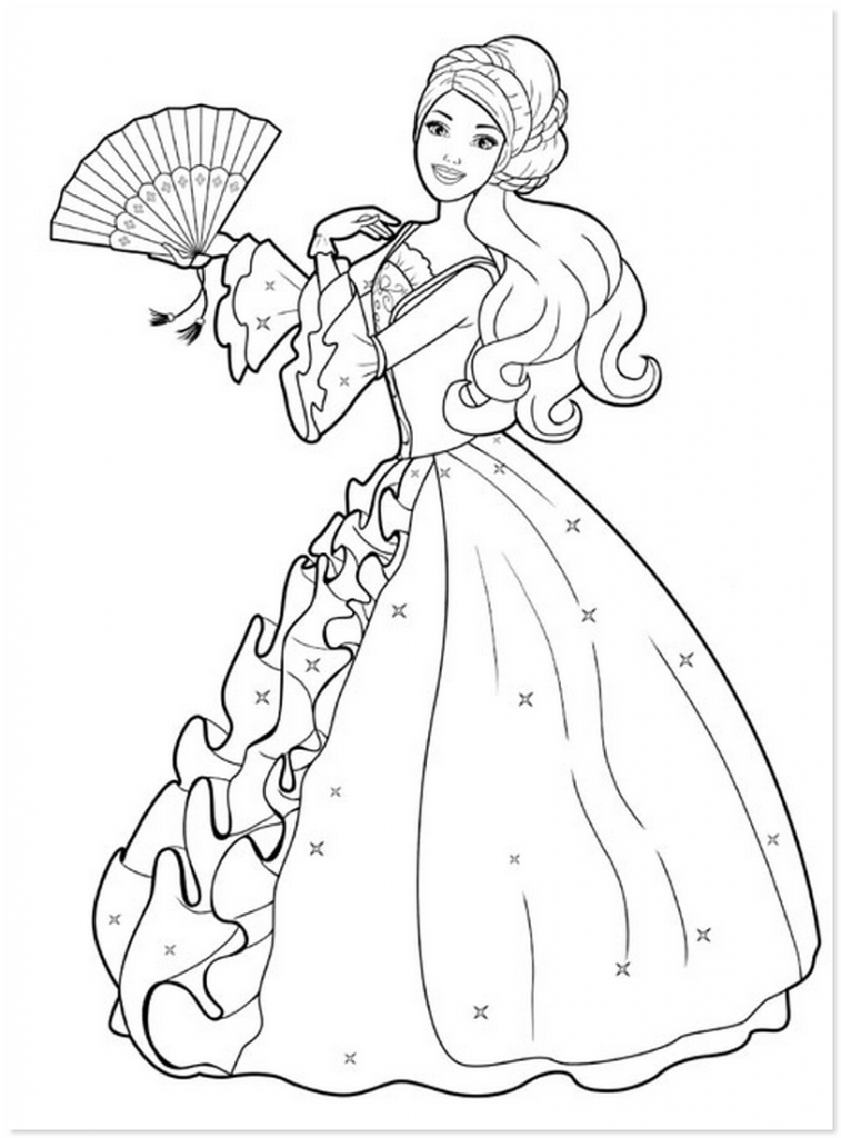 Simple Princess Coloring Pages : Free coloring pages of adult reading dryad