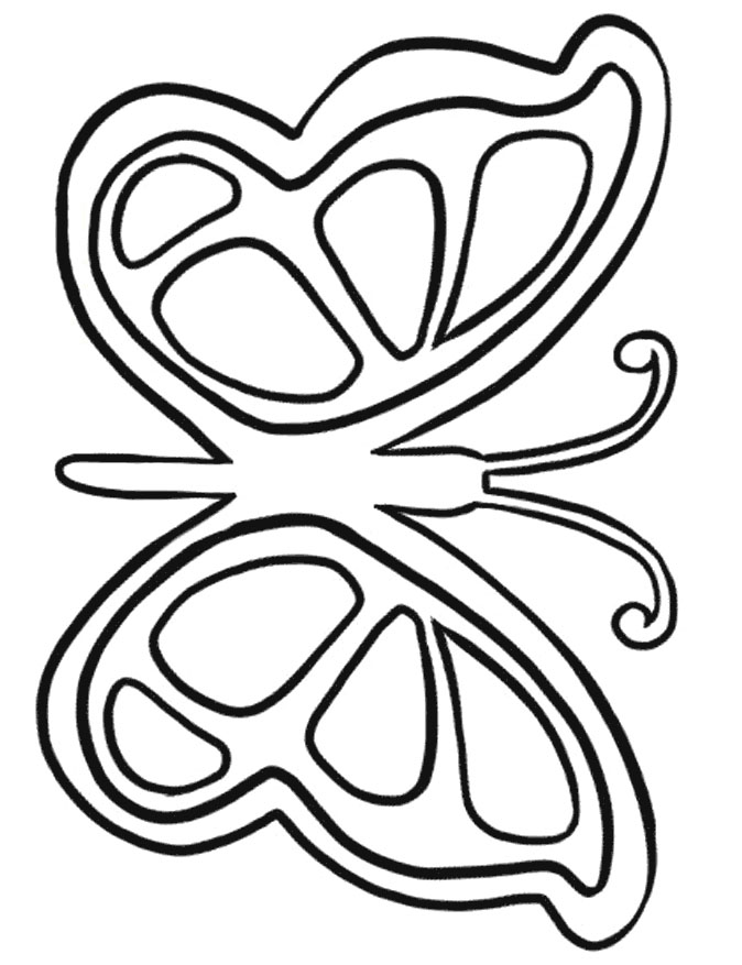 shape butterfly coloring pages - photo#22
