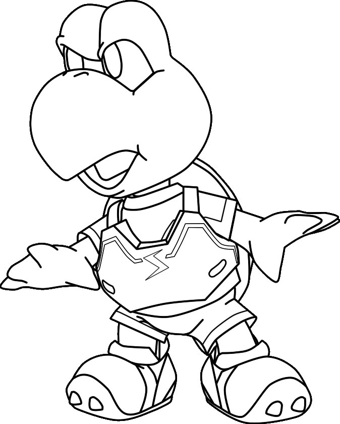 Koopa Troopa Coloring Pages Images & Pictures - Becuo - AZ Dibujos ...