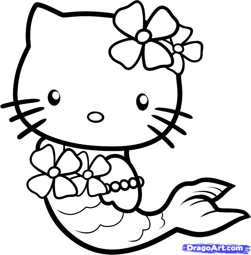 Hello kitty geek coloring pages