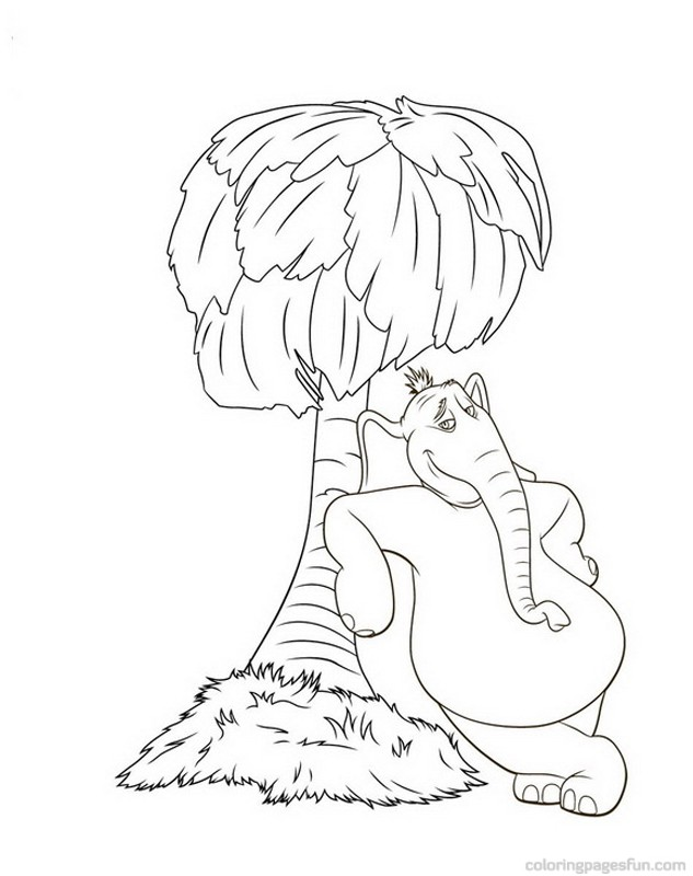 Dr. Seuss Horton Coloring Pages 3 | Free Printable Coloring Pages ...