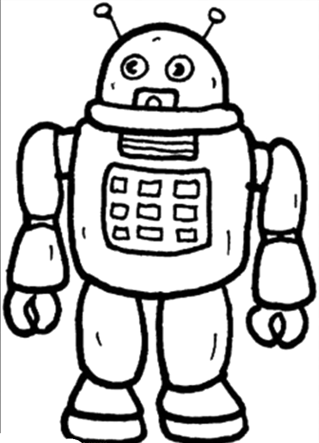 Robot Coloring Pages  House Design And Decoration Images