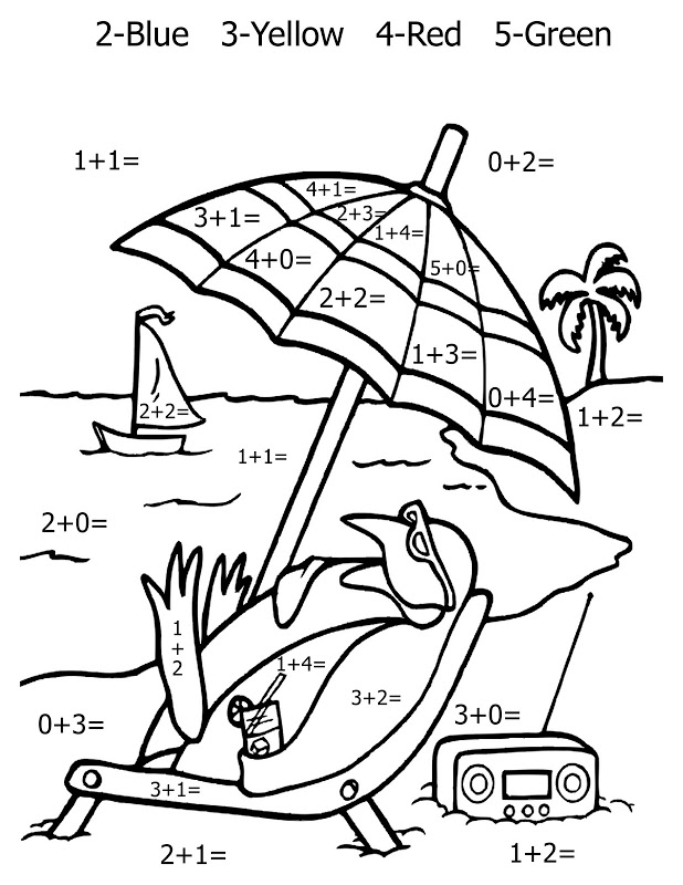 1st grade coloring sheets ant llc - Math Coloring Pages St Grade