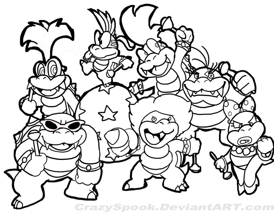 Super Mario Bowser Coloring Pages | Printable Coloring ...