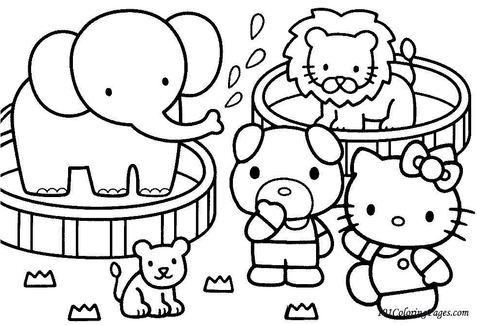 hello kit coloring pages - photo#3