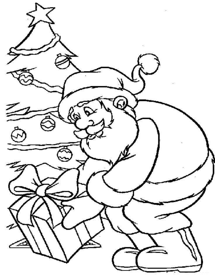 papai noel engarsado Colouring Pages (page 2)
