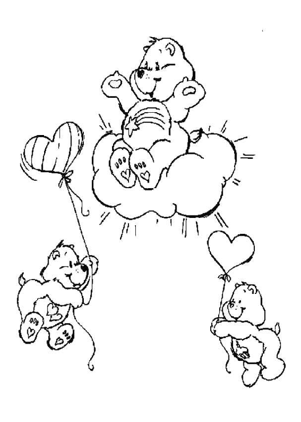 CARE BEARS coloring pages - Birthday Bear