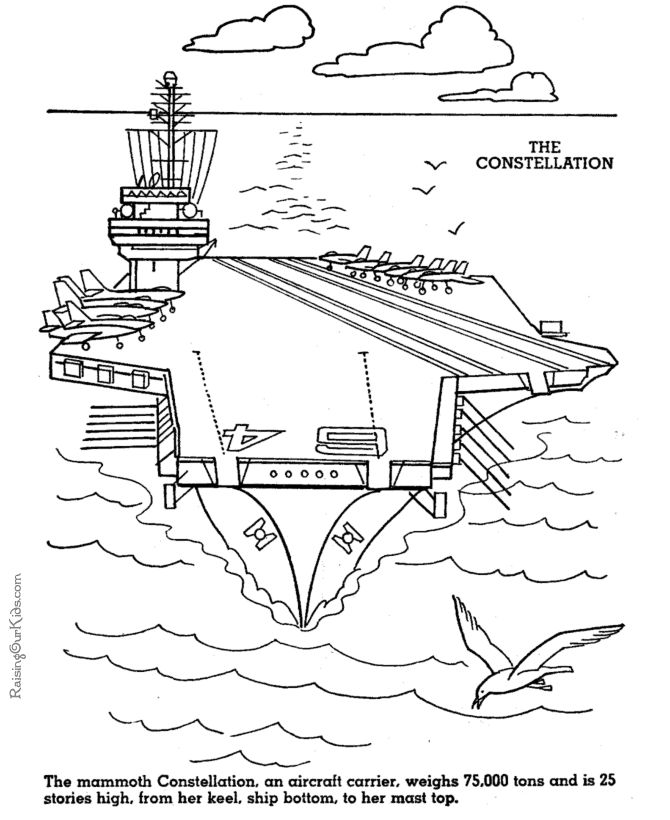 Aircraft Carrier Color Page - USS Constellation | U.S. Navy - AZ ...