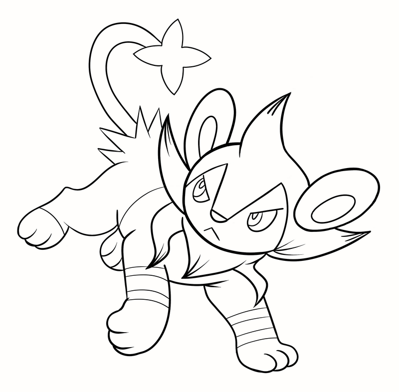 pokemon luxio coloring pages - photo#6