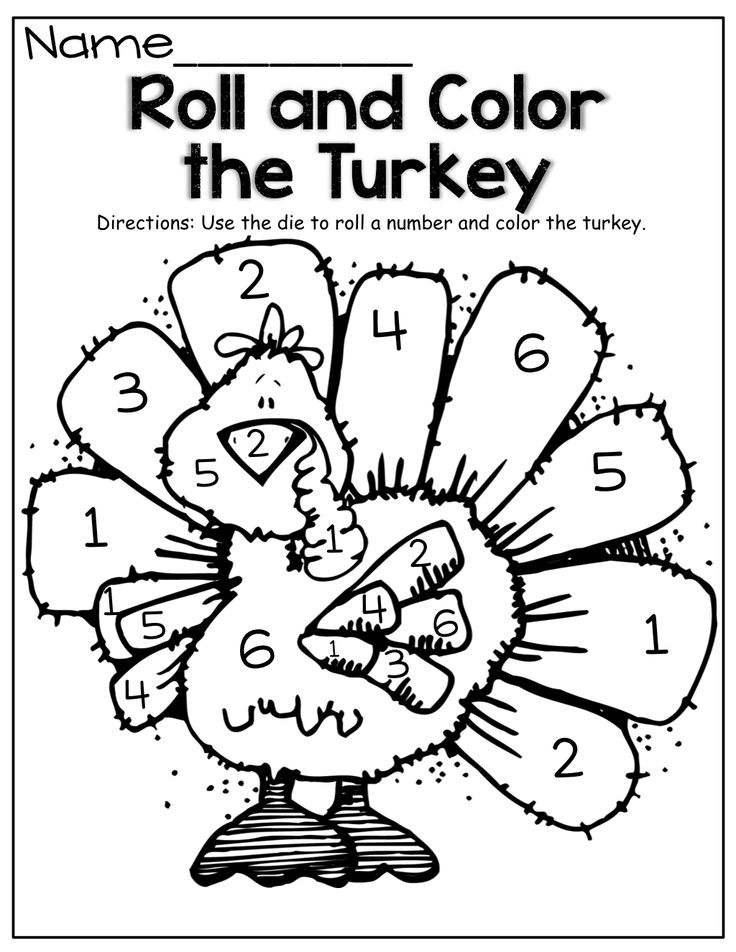 Free Coloring Pages Of Turkey Color By Number