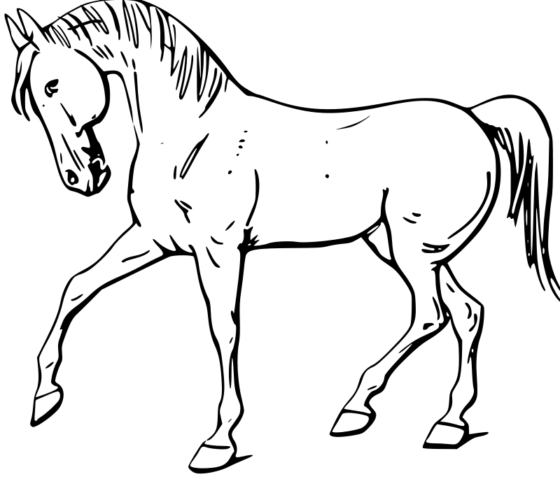 free dala horse coloring pages - photo#34