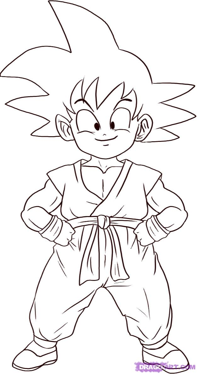 How to Draw Son Goku, Step by Step, Dragon Ball Z Characters
