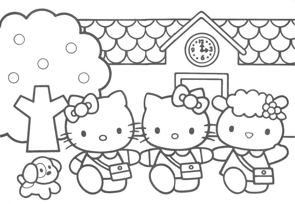 hello kit coloring pages - photo#13