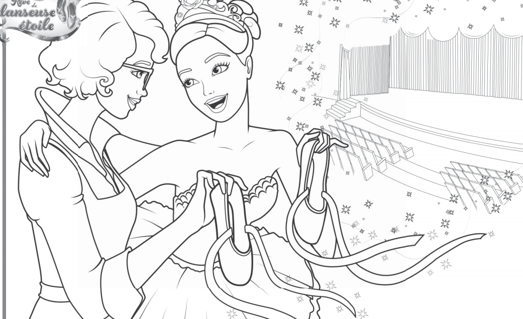 Coloring Pages Of Barbie And The 12 Dancing Princesses : Barbie coloring pages of and the