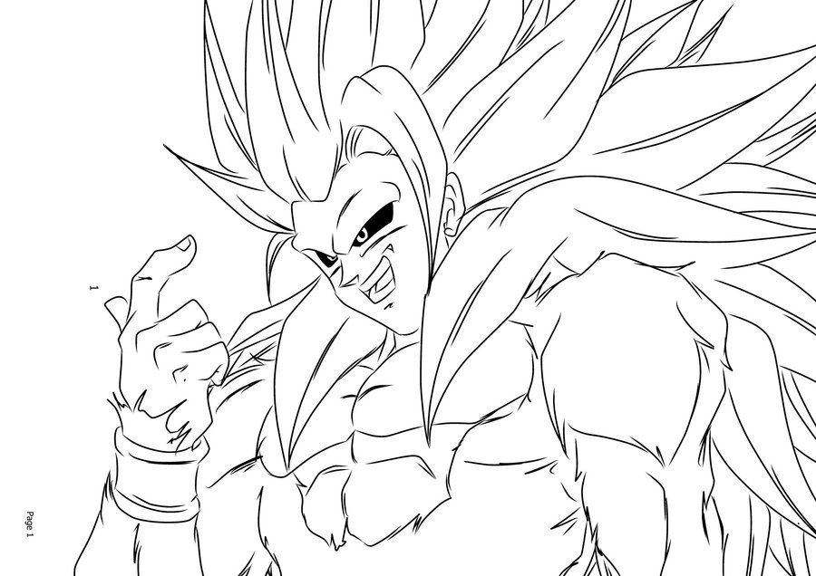 Dragon Ball Z Coloring Pages Goku Super Saiyan | Coloring Pages