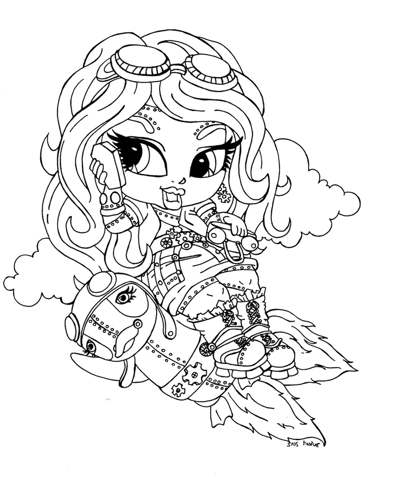 Monster High Robecca Steam  Kizi Free Coloring Pages For