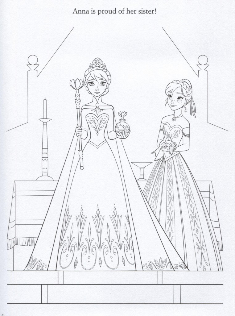 Cast Of Frozen Coloring Pages