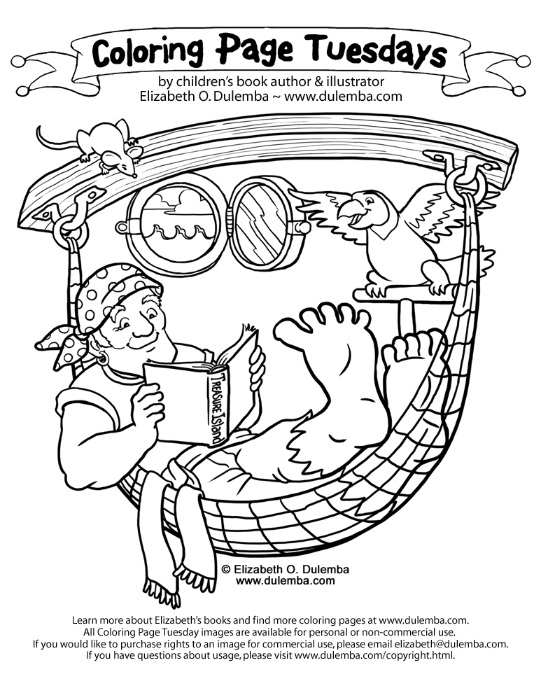 dulemba pirate coloring pages - photo#2