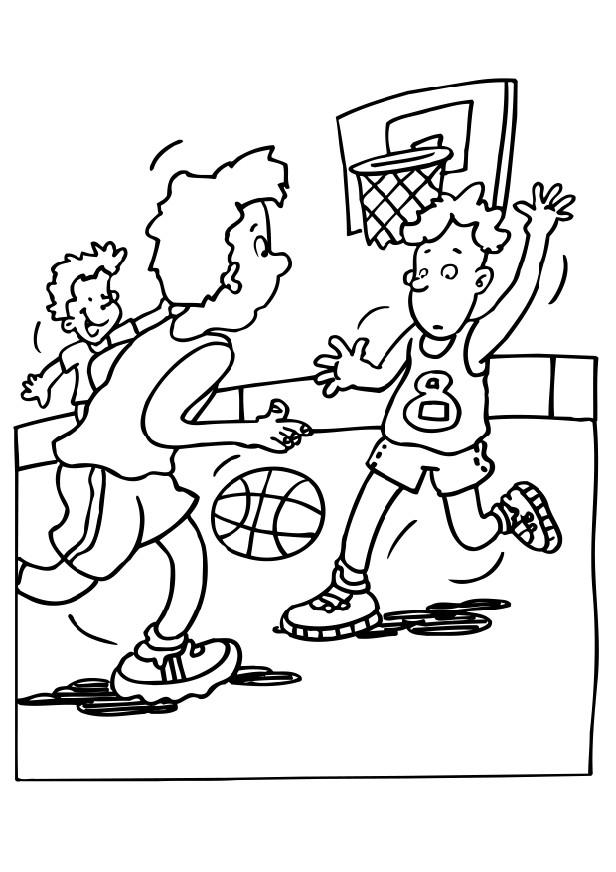 Sport+Basketball+Coloring+