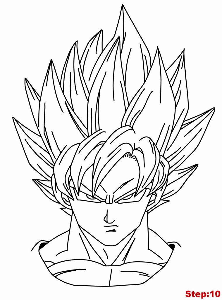 How to Draw Goku Super Saiyan from Dragonball Z | how to draw manga 3d