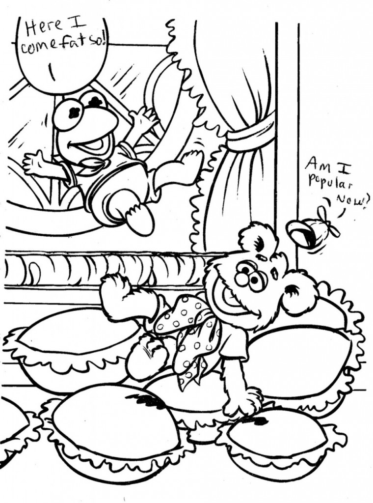 Funny fancy muppet babies coloring pages kids coloring for Muppet babies coloring pages