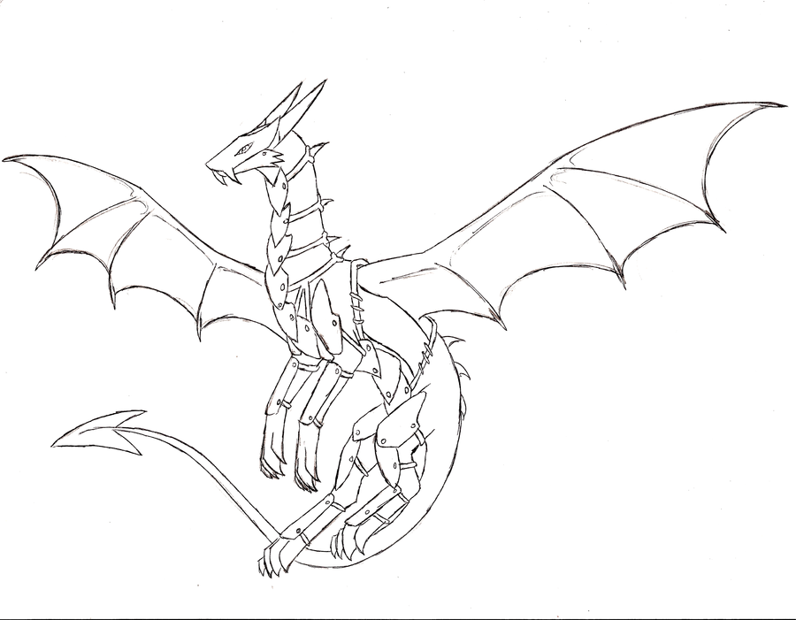 Armored Dragon Coloring Pencil Coloring Pages