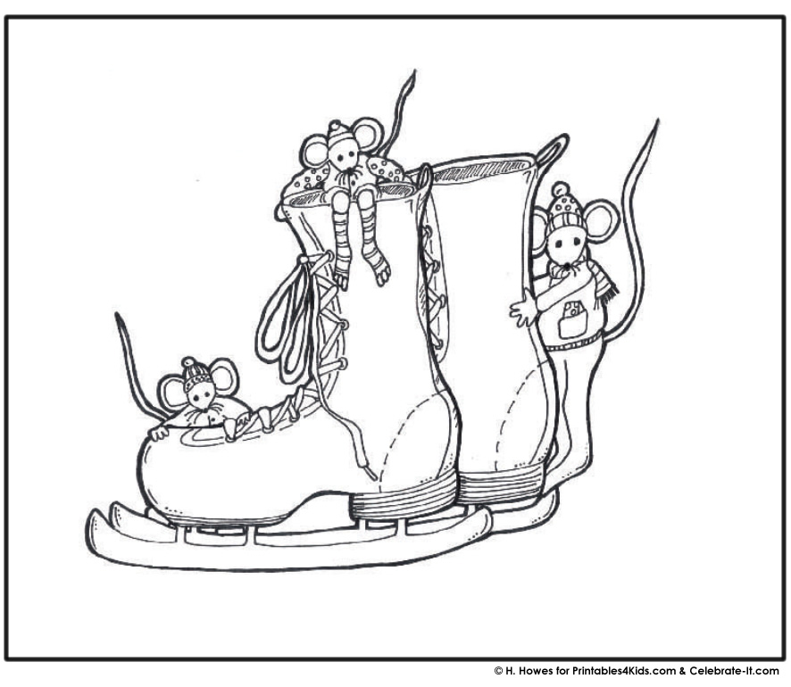 penguins ice skating coloring pages - photo#30