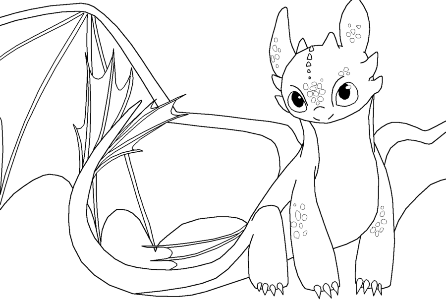 Toothless Night Fury Color Pages Coloring Coloring Pages