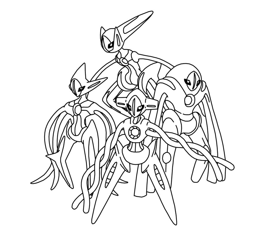 deoxys maze coloring pages - photo#2