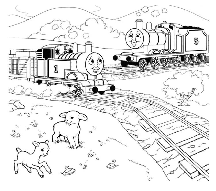 emily train coloring pages - photo#25
