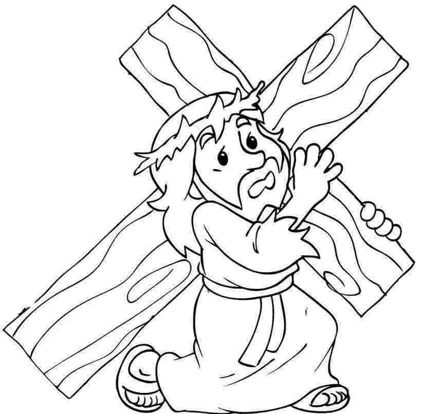Jesus cruz na Colouring Pages (page 2)
