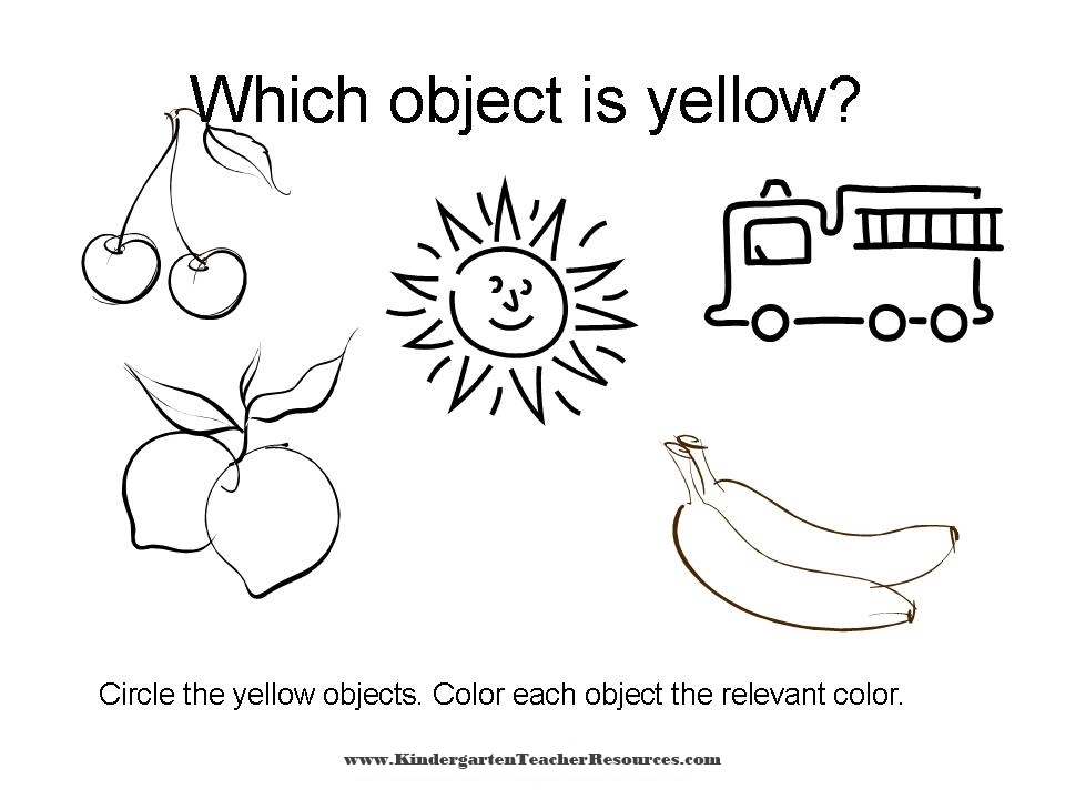 Color Worksheets - Identifying Colors