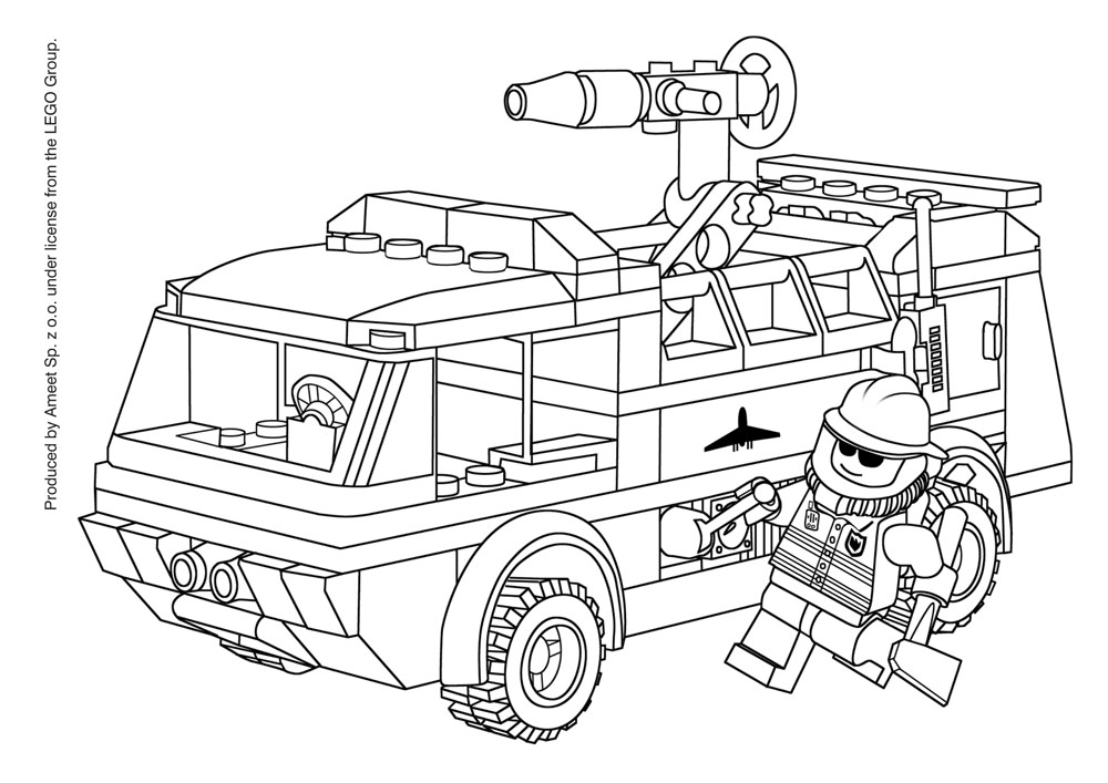 Lego city police color printing sonic coloring pages for Lego city police coloring pages