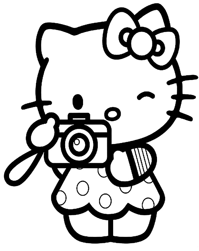 hello kit coloring pages - photo#14