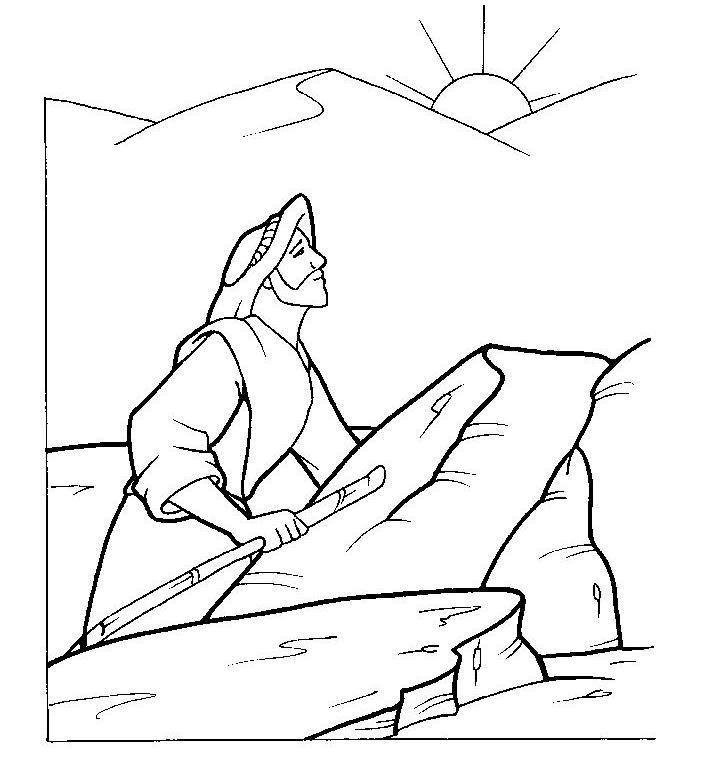 Nefi en el desierto Colouring Pages (page 2)