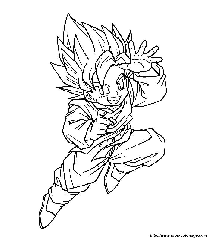 Dragon Ball Z Para Colorir Desenhos Do Gt Tattoo Page 6