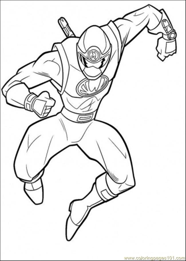 Coloring Pages Ranger Yellow (Cartoons > Power Rangers) - free
