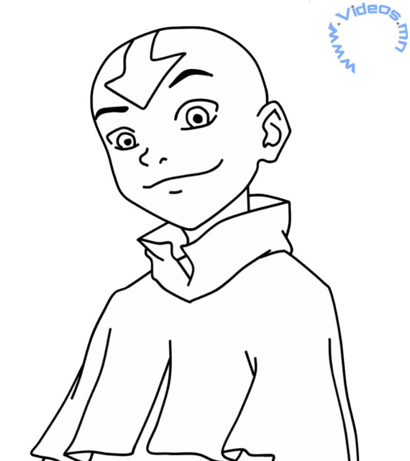 avaatar aang Colouring Pages (page 3)