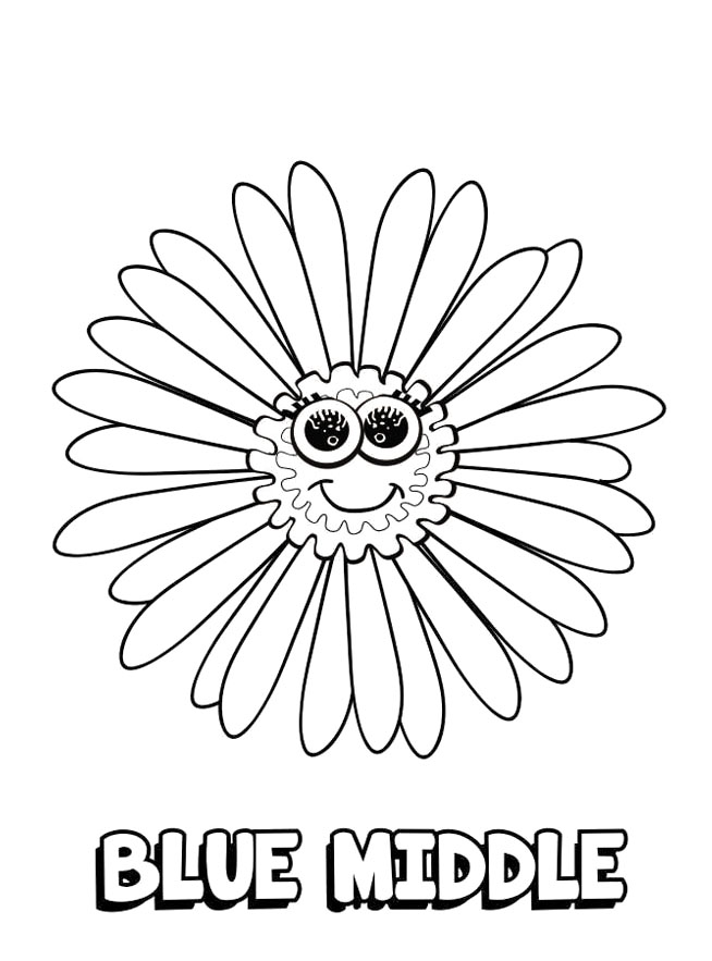 Event Coloring Pages Daisy Girl Scout Blue Promise