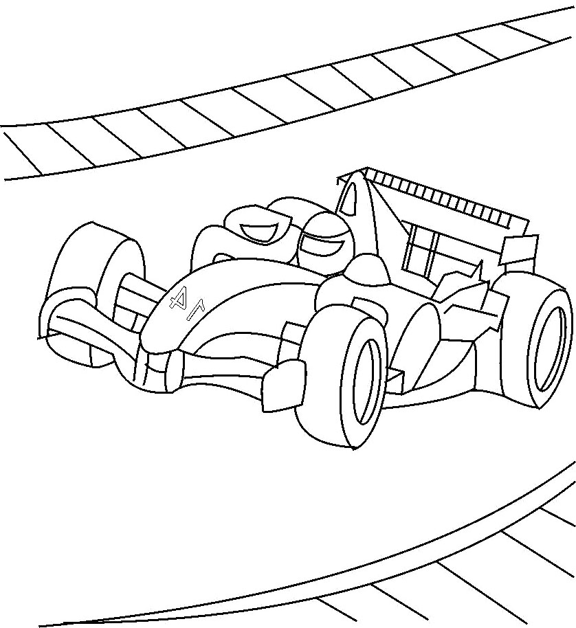 Formula 1 Winner Race F1 Coloring