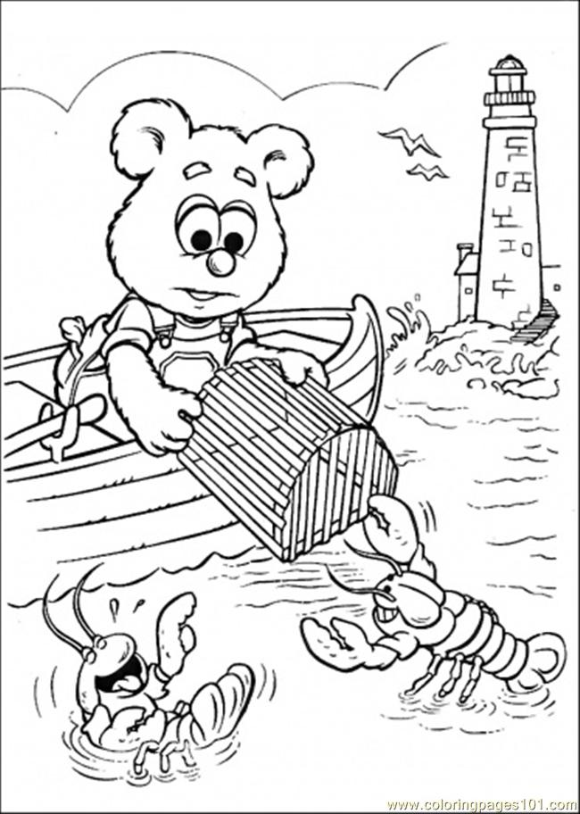 Rowlf Babies Muppets Coloring Page Crokky Coloring Pages